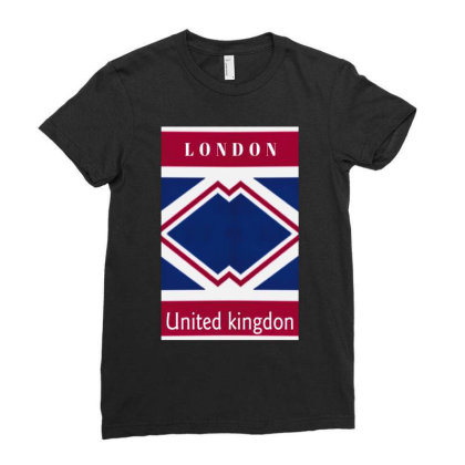 United Kingdon Ladies Fitted T-shirt Designed By Dav