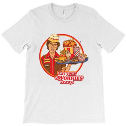 Eat Your Worries Framed T-shirt Designed By Brandon