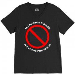 no photos please V-Neck Tee   Artistshot