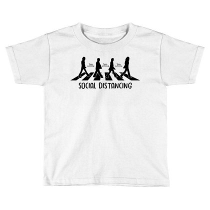 Abbey Road Social Distancing 1 Feet Toddler T-shirt Designed By Badaudesign