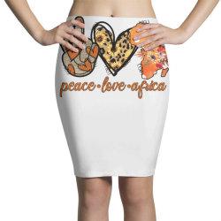 peace love africa Pencil Skirts | Artistshot