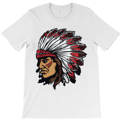 Tribal American Indian T-shirt Designed By Chiks