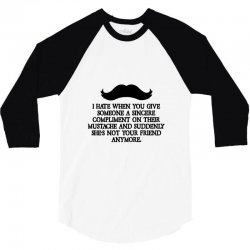 shes not your friend anymore moustache 3/4 Sleeve Shirt | Artistshot