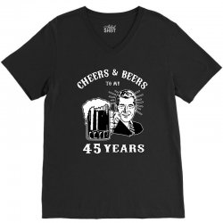 cheers and beers 45 V-Neck Tee   Artistshot