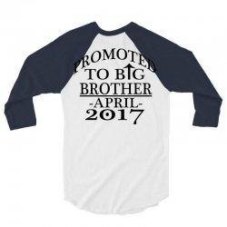 promoted to big brother 3/4 Sleeve Shirt   Artistshot