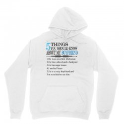 5 things you should know about my boyfriend Unisex Hoodie   Artistshot