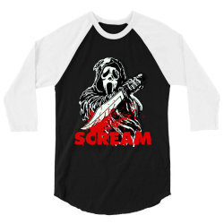 ghostface scream mask classic t shirt 3/4 Sleeve Shirt | Artistshot