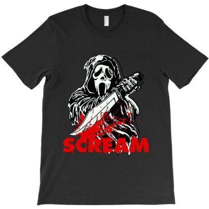 Ghostface Scream Mask Classic T Shirt T-shirt Designed By Artdesigntest