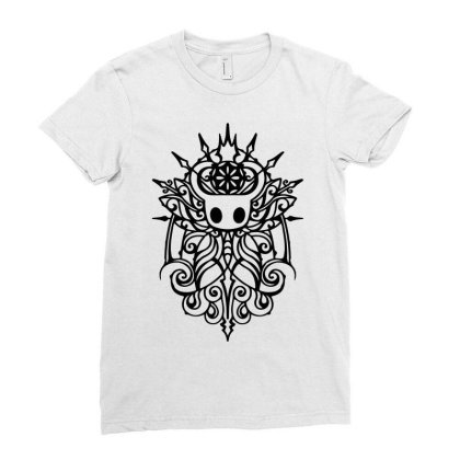 Hollow Knight Tribal White Classic T Shirt Ladies Fitted T-shirt Designed By Artdesigntest