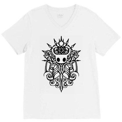 Hollow Knight Tribal White Classic T Shirt V-neck Tee Designed By Artdesigntest