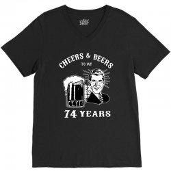 cheers and beers 74 V-Neck Tee | Artistshot
