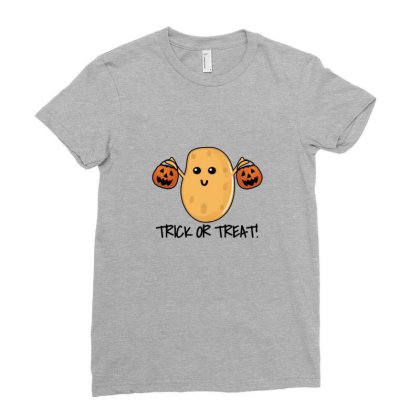 Trick Or Treat   Funny Potato Ladies Fitted T-shirt Designed By Asatya