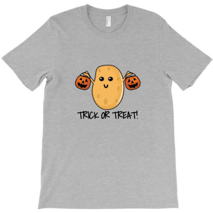 Trick Or Treat   Funny Potato T-shirt Designed By Asatya