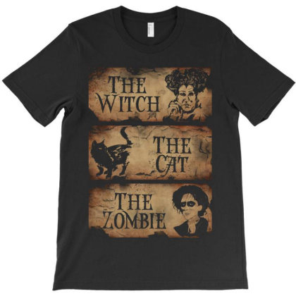 The Wicth ,the Cat, The Zombie T-shirt Designed By Advance Shirt