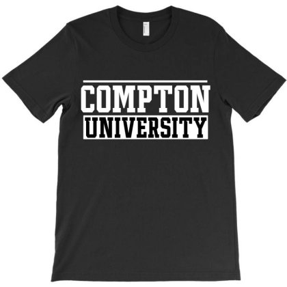 Compton University License Plate T-shirt Designed By Tiococacola