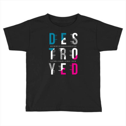 Destroyed Toddler T-shirt Designed By Tamiart