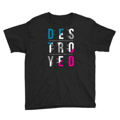 Destroyed Youth Tee Designed By Tamiart