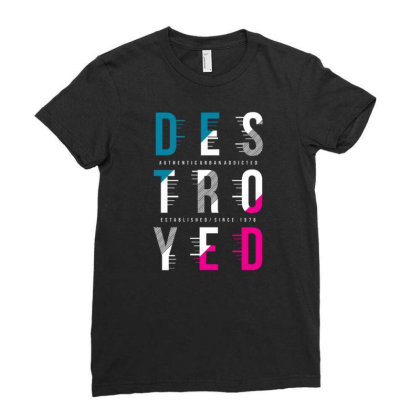 Destroyed Ladies Fitted T-shirt Designed By Tamiart