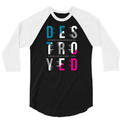 Destroyed 3/4 Sleeve Shirt Designed By Tamiart