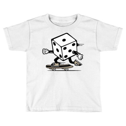 Dice Skater Skateboard Toddler T-shirt Designed By Tamiart