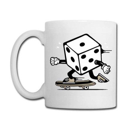 Dice Skater Skateboard Coffee Mug Designed By Tamiart
