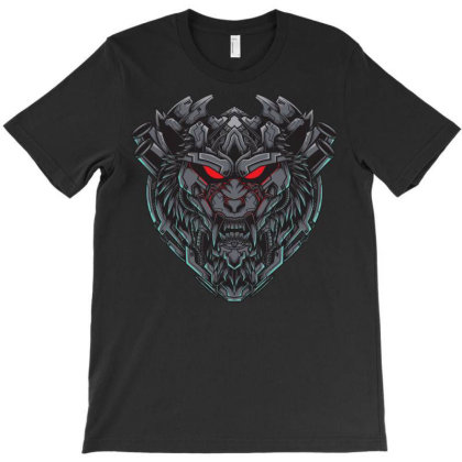 Wolf Mecha T-shirt Designed By Anamvec