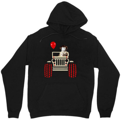 Halloween Pennywise And Jeep Unisex Hoodie Designed By Kimochi