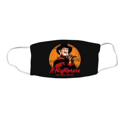 A Nightmare On Elm Street Face Mask Rectangle Designed By Jasmine Tees