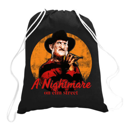A Nightmare On Elm Street Drawstring Bags Designed By Jasmine Tees