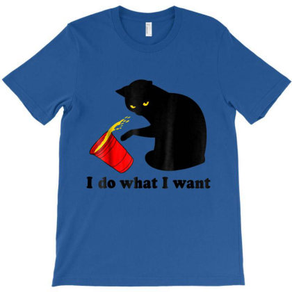 Do What I Want Black Cat Red Cup Funny T-shirt Designed By Conco335@gmail.com