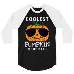 funny halloween coolest pumpkin in the patch 3/4 Sleeve Shirt | Artistshot