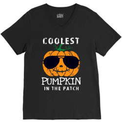funny halloween coolest pumpkin in the patch V-Neck Tee | Artistshot