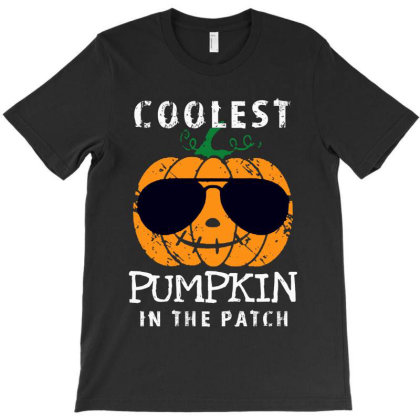 Funny Halloween Coolest Pumpkin In The Patch T-shirt Designed By Mary Art