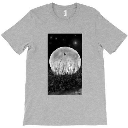 Dark Night Moon T-shirt Designed By Mr. N.p.