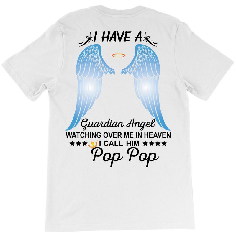 My Pop Pop Is My Guardian Angel T-shirt   Artistshot