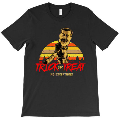 Negan Trick Or Treat T-shirt Designed By Trusttees