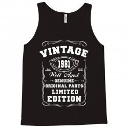 well aged original parts limited edition 1981 Tank Top | Artistshot