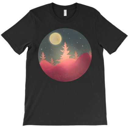 Moon Forest T-shirt Designed By Chiks