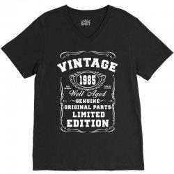 well aged original parts limited edition 1985 V-Neck Tee | Artistshot