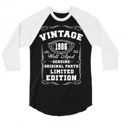 well aged original parts limited edition 1986 3/4 Sleeve Shirt | Artistshot