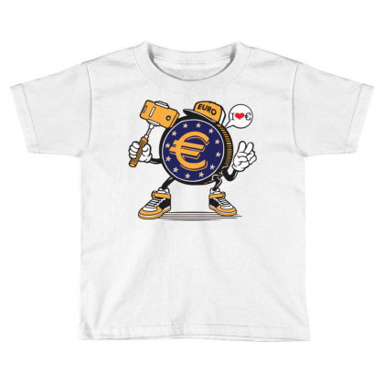 Euro Coin Money Selfie Toddler T-shirt Designed By Tamiart