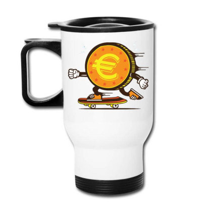 Euro Coin Skater Skateboard Travel Mug Designed By Tamiart