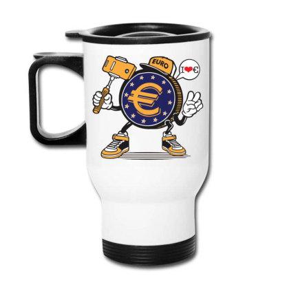 Euro Coin Money Selfie Travel Mug Designed By Tamiart