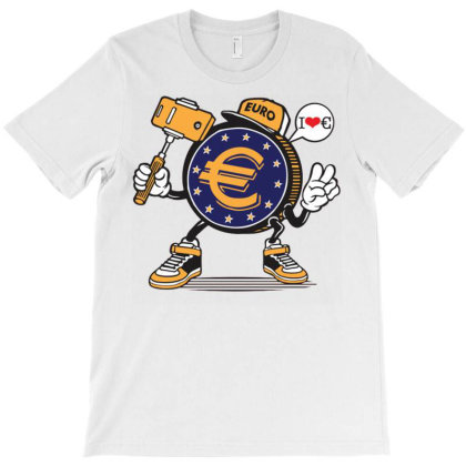 Euro Coin Money Selfie T-shirt Designed By Tamiart