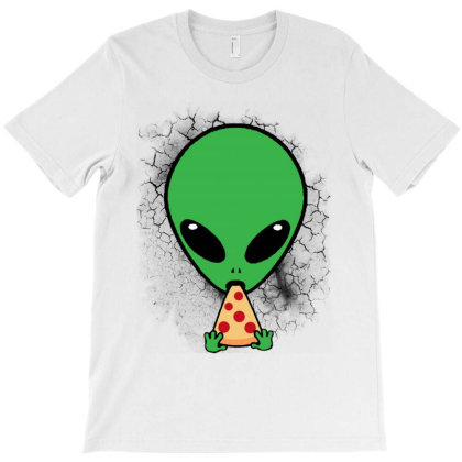 Aliens Love Pizza T-shirt Designed By Trusttees