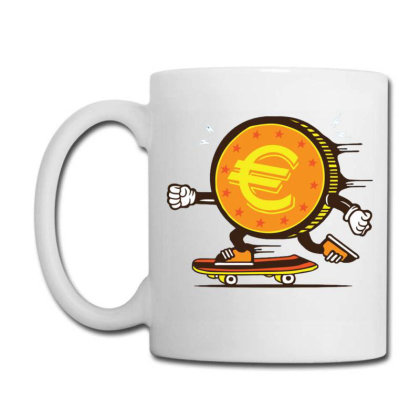 Euro Coin Skater Skateboard Coffee Mug Designed By Tamiart