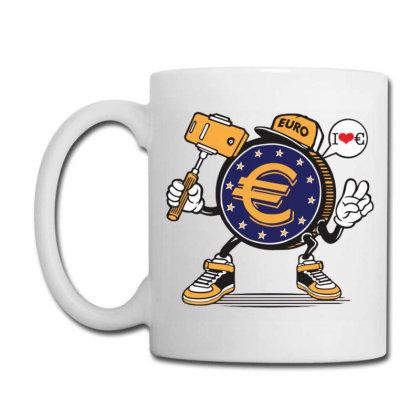 Euro Coin Money Selfie Coffee Mug Designed By Tamiart