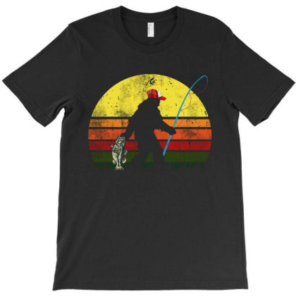 Bass Fishing Bigfoot Vintage T-shirt Designed By Trusttees