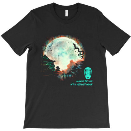 Thermal Moon Glow T-shirt Designed By Brento