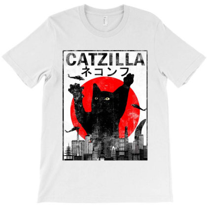 Catzilla Funny Vintage T-shirt Designed By Trusttees